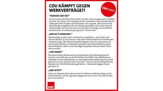 CDU Werkvertraege